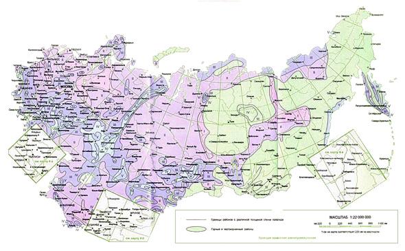 Карта гололедных районов
